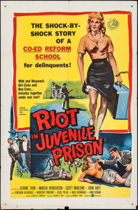 "Riot in Juvenile Prison (United Artists, 1959). One Sheet (27"" X 41""). Exploitation"