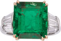 Estate Jewelry:Rings, Colombian Emerald, Diamond, Platinum, Gold Ring, Tiffany & Co.. ...