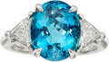 Estate Jewelry:Rings, Paraiba Tourmaline, Diamond, Platinum Ring, Tiffany & Co.. ...