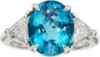 Paraiba Tourmaline, Diamond, Platinum Ring, Tiffany & Co