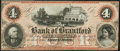 Canadian Currency, Sault St. Marie, ON- The Bank of Brantford $4 Nov. 1, 1859 Ch #40-12-06R Remainder. ...