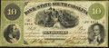 Obsoletes By State:South Carolina, Charleston, SC- Bank of the State of South Carolina $10 Oct. 1, 1861...