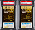 Football Collectibles:Tickets, 1967 Super Bowl I Packers vs. Chiefs PSA Graded Ticket Stubs Lot of 2....