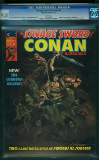 Savage Sword of Conan #6 (Marvel, 1975) CGC VF/NM 9.0 White pages
