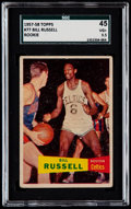 Basketball Cards:Singles (Pre-1970), 1957 Topps Bill Russell #77 SGC 45 VG+ 3.5....