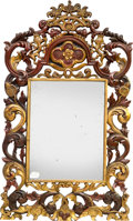Decorative Arts, Continental, A Continental Baroque-Style Carved Giltwood Mirror, 19th century.35 x 21 inches (88.9 x 53.3 cm). ...