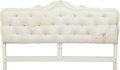 Furniture , A Painted and Tufted Upholstered Wood Headboard, 20th century. 47-1/2 h x 79 w inches (120.7 x 200.7 cm). ...