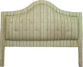 Miscellaneous, An Upholstered Headboard, 20th century. 65 h x 83 w inches (165.1 x 210.8 cm). ...