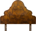 Furniture , A Burled Walnut Headboard, circa 1920-1930. 51-3/4 inches high x 59-1/2 inches wide (131.4 x 151.1 cm). ...
