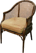 Furniture : Continental, A Pair of Colonial-Style Carved Wood and Caned Armchairs, 20thcentury. 32-1/2 h x 23 w x 22-1/2 d inches (82.6 x 58.4 x 57....(Total: 2 Items)