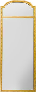 Decorative Arts, Continental, A Pair of Louis XVI-Style Carved Giltwood Mirror Frames, late 19thcentury. 70-1/2 x 27 inches (179.1 x 68.6 cm). ... (Total: 2 Items)