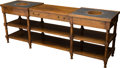Furniture , A Georgian-Style Mahogany and Slate Display Shelf, late 20th century. 27-1/2 h x 72 w x 17 d inches (69.9 x 182.9 x 43.2 cm)...