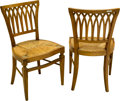 Furniture , A Pair of Regency Revival Fruitwood Side Chairs, late 20th century. Marks: S. CAVALLO INC.. 32 h x 19 w x 15 d inches (8... (Total: 2 Items)