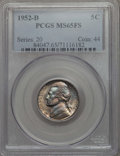 Jefferson Nickels, 1952-D 5C MS65 Full Steps PCGS. PCGS Population: (59/35). ...
