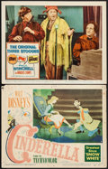 """Movie Posters:Animation, Cinderella & Other Lot (RKO, 1950). Lobby Cards (2) (11"""" X14""""). Animation.. ... (Total: 2 Items)"""