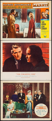"""The Paradine Case & Other Lot (Selznick, 1948/R-1956). Lobby Cards (3) (11"""" X 14""""). Hitchcock. ... (Total:..."""