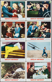 "North by Northwest (MGM, R-1966). Lobby Card Set of 8 (11"" X 14""). Hitchcock. ... (Total: 8 Items)"