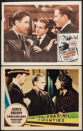 "Movie Posters:Crime, The Roaring Twenties (Warner Brothers, 1939/R-1950s). Other CompanyLobby Card & Lobby Card (11"" X 14""). Crime.. ... (Total: 2Items)"