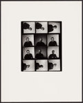 """Movie Posters:Miscellaneous, James Dean by Roy Schatt (Warner Brothers, 1954). Photographer's Proof on Board (Photo: 8"""" X 10"""", Board: 16"""" X 20""""). Miscell..."""