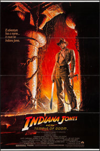 """Indiana Jones and the Temple of Doom & Other Lot (Paramount, 1984). One Sheet (27"""" X 41"""") & Program (6..."""