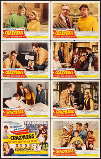 "Crazylegs (Republic, 1953). Lobby Card Set of 8, Title Lobby Card, & Lobby Card (11"" X 14""). Sports. ... (..."