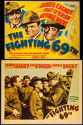 """Movie Posters:War, The Fighting 69th (Warner Brothers, 1940). Trimmed Linen FinishTitle Lobby Card (10"""" X 13"""") & Linen Finish Lobby Card (11"""" ...(Total: 2 Items)"""