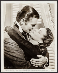 """Clark Gable and Vivien Leigh in Gone with the Wind (MGM, 1939). Portrait Photo (8"""" X 10""""). Academy Award Winne..."""