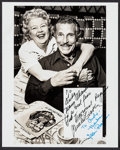 "Movie Posters:Adventure, Buster Crabbe & Jean Rogers in Flash Gordon (Dallascon, 1977).Autographed Original Photo and Program (8"" X 10"" and 7.5"" X 1...(Total: 2 Items)"
