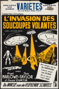 """Movie Posters:Science Fiction, Earth vs. the Flying Saucers (Columbia, 1956). Belgian (14.25"""" X21.5""""). Science Fiction.. ..."""