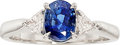 Estate Jewelry:Rings, Kashmir Sapphire, Diamond, Platinum Ring. ...