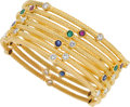 Estate Jewelry:Bracelets, Diamond, Multi-Stone, Gold Bracelets. ... (Total: 7 Items)