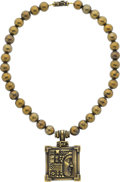 Estate Jewelry:Necklaces, Gold Pendant-Necklace, Kieselstein-Cord. ... (Total: 2 Items)
