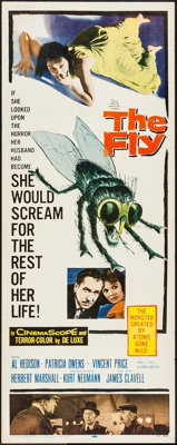 "The Fly (20th Century Fox, 1958). Insert (14"" X 36""). Science Fiction"