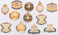 Autographs:Bats, Stan Musial Personal Hall of Fame Related Pins Lot of 12 from The Stan Musial Collection. ...