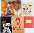 Baseball Collectibles:Others, 1990's Stan Musial Signed Flats Lot of 5 from The Stan MusialCollection. ...