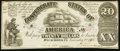 Confederate Notes:1861 Issues, CSA - T-18 1861 $20 AU.. ...