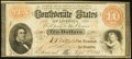 Confederate Notes:1861 Issues, CSA - T-24 1861 $10 Fine. . ...
