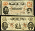 Confederate Notes:1861 Issues, CSA - Lot of 2 Sept. 2, 1861 $10 Cut Cancelled Notes.. ... (Total:2 notes)