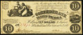 Confederate Notes:1861 Issues, CSA - T-28 1861 $10 Choice Fine.. ...