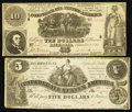 Confederate Notes:1861 Issues, CSA - Lot of 2 Sept. 2, 1861 Lesser Denomination Notes.. ...(Total: 2 notes)