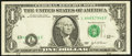 Error Notes:Shifted Third Printing, Fr. 1929-L $1 2003 Federal Reserve Note. Very Fine.. ...
