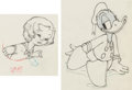 Animation Art:Production Drawing, The Autograph Hound Shirley Temple and Donald Duck AnimationDrawing Group of 2 (Walt Disney, 1939).... (Total: 2 Original Art)
