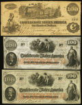 Confederate Notes:1862 Issues, CSA - Lot of 3 1862 $100 Notes.. ... (Total: 3 notes)
