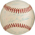 Baseball Collectibles:Balls, 1960 Pittsburgh Pirates Team Signed Baseball. . ...