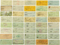 Baseball Collectibles:Others, 1935-1993 Hall of Famers Signed Checks Lot of 58....