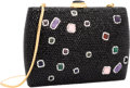 "Luxury Accessories:Bags, Judith Leiber Full Bead Black Crystal Confetti RectangularMinaudiere Evening Bag. Excellent Condition. 6"" Width x4"" ..."