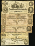 Confederate Notes:1862 Issues, CSA - Lot of 5 1862 Notes.. ... (Total: 5 notes)