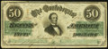 Confederate Notes:1862 Issues, CSA - T-50 1862 $50 Fine-Very Fine.. ...