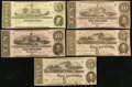 Confederate Notes:1862 Issues, CSA - Lot of 5 December 2, 1862 Type Notes with Duplication.. ...(Total: 5 notes)