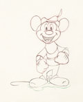 Animation Art:Production Drawing, Fun and Fancy Free Mickey Mouse Animation Drawing (WaltDisney, 1947)....